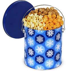 1 Gallon of Traditional Mix Popcorn in Winter Wonderland Tin