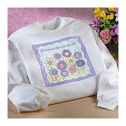 Personalized Grandma Flower Garden Sweatshirt