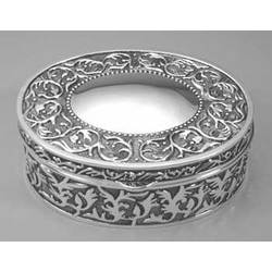 Engravable Celtic Oval Jewelry Box