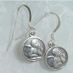 Guardian Angel Earrings in Sterling Silver