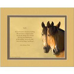 Daughter Poem Personalized Horses Print