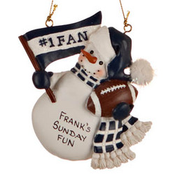 Personalized Indianapolis Colts Football Fan Christmas Ornament