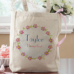 Personalized Flower Girl Petite Tote Bag