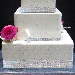 Crystal Rhinestone Wedding Banding Ribbon 4 Yards in 4 Rows