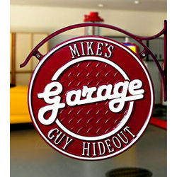 Dual-Sided Personalized Garage Hanging Wall Plaque