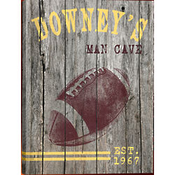 Personalized Football Gallery Wrapped Canvas