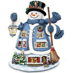 "Thomas Kinkade ""The Night Before Christmas"" Talking Snowman"
