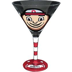 Ohio State Handpainted Martini Glass Set