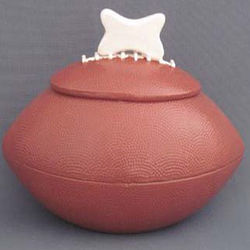 Ceramic Football Dog Treat Jar