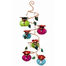 Vinester Handcrafted Multi Bowl Hummingbird Feeder