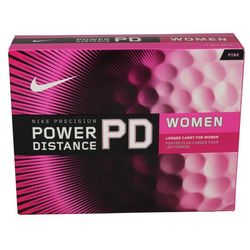 Women's Power Distance Personalized Pink Golf Balls