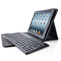 Bluetooth Keyboard with Leather Case for iPad Tablets