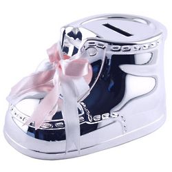 Personalized Baby Girl Shoe Coin Bank