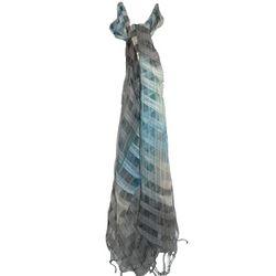 Fleurs Checkered Silk Scarf