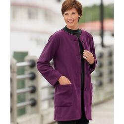 Button Front Fleece Coat