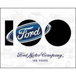 Ford Anniversary Metal Sign