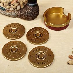 12-Gauge Shotgun Shell Coaster Set