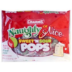 Naughty or Nice Sweet 'n Sour Pop Candies