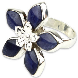 Forget Me Not Sodalite Flower Ring