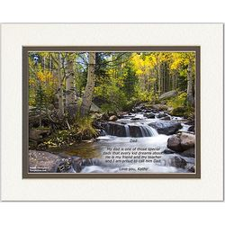 Dad Poem Personalized River Print
