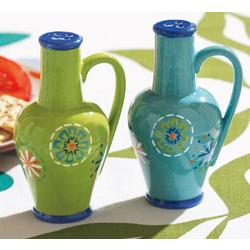 Azure Salt & Pepper Shakers