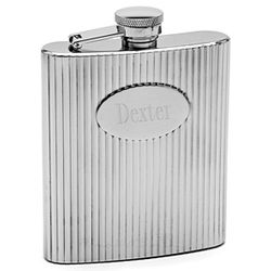 Zoot Suit Striped Hip Flask