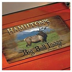 Personalized Big Game Doormat