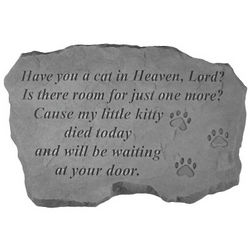 Have You a Cat in Heaven Lord Memorial Stone