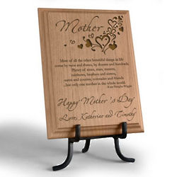 Personalized Only One Mother Wooden Plaque