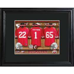 Personalized Ohio State Locker Room Print