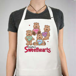 Personalized Valentine's Day Sweetheart Bears Apron