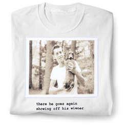 Showing Off His Wiener T-Shirt