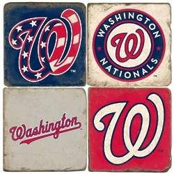 Washington Nationals Tumbled Italian Marble Coasters
