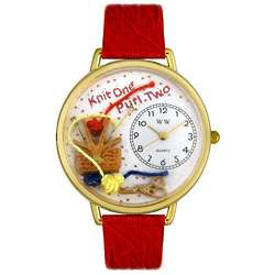 Knitter Watch with Miniature Knitting Tools