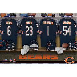 Chicago Bears 16x24 Personalized Locker Room Canvas