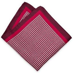 Small Patterned Silk Pocket Square
