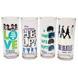 The Beatles Juice Glasses