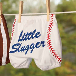 Baseball Cotton Diaper Cover