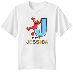 Personalized Elmo Initial Alphabet T-Shirt