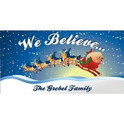 We Believe Christmas Wall Canvas
