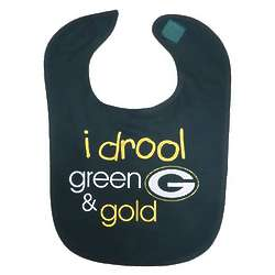 Packers Green and Gold Baby Bib