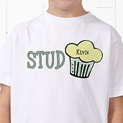 Stud Muffin Personalized Boy's T-Shirt