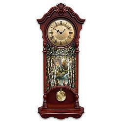 Thomas Kinkade Stained Glass Clock