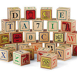 Handcrafted Wooden ABC Blocks