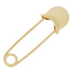 14k Gold Safety Pin