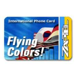 ZapTel Flying Colors! International Phone Card