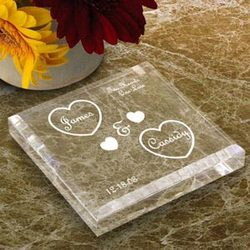 Personalized Both Our Hearts Keepsake and Paperweight