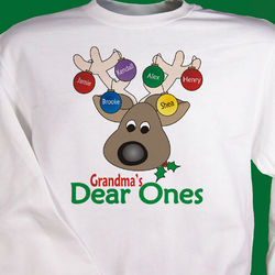 Deer Ones Christmas Personalized Sweatshirt