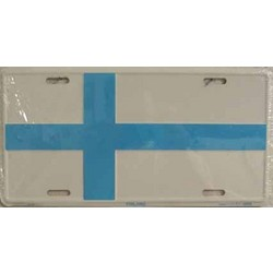 Finland Flag License Plate