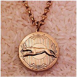 Greyhound / Whippet Locket Necklace